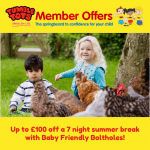 £100 OFF Baby Friendly Boltholes!