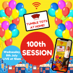 Tumble Tots at Home 100th Party!