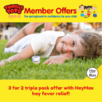 3 for 2 triple pack offer with HayMax hay fever relief!