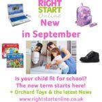 Right Start Online: New in September
