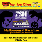 Halloween Paradise Member Offer 17.10.19