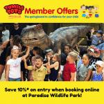 10% OFF Paradise Wildlife Park!