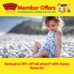 Exclusive 10% off all stays* with Away Resorts!