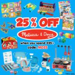 25% OFF Melissa & Doug when you spend £25+