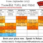 New Timetable for September 2019 with NEW Venues