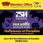 Halloween Paradise Member Offer 17.10.19