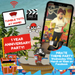 Tumble Tots at Home PIRATE Anniversary Party!