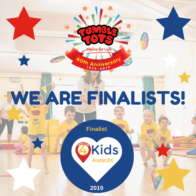 Tumble Tots are finalists in the What's on 4 awards